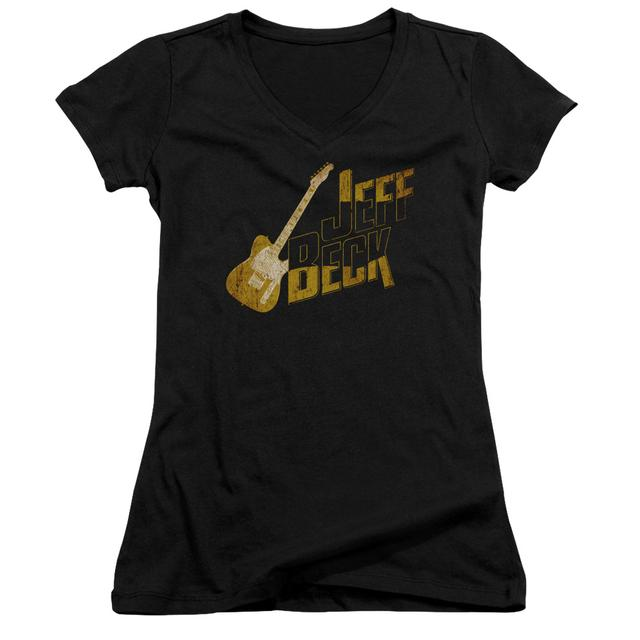 Jeff Beck Junior's V-Neck Shirt | THAT YELLOW GUITAR Junior's Tee