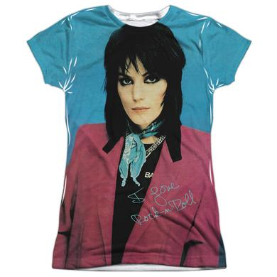 Joan Jett & The Blackhearts Junior's T Shirt | I LOVE ROCK AND ROLL (FRONT/BACK PRINT) Sublimated Tee