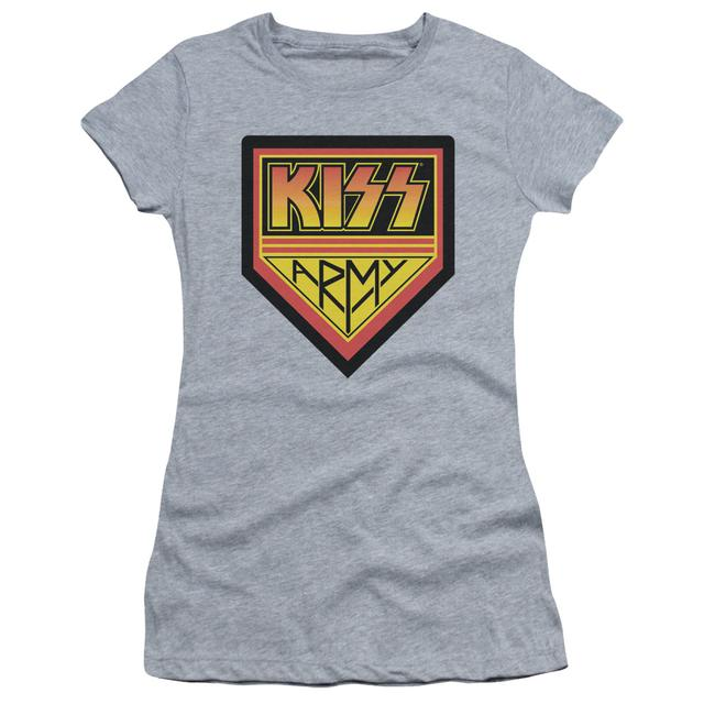 Kiss Juniors Shirt |  ARMY LOGO Juniors T Shirt