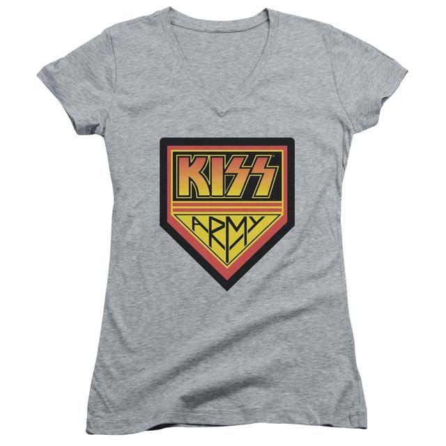 Kiss Junior's V-Neck Shirt    ARMY LOGO Junior's Tee