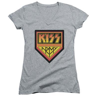Kiss Junior's V-Neck Shirt |  ARMY LOGO Junior's Tee