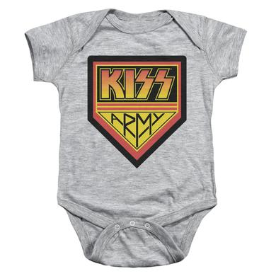 Kiss Baby Onesie |  ARMY LOGO Infant Snapsuit