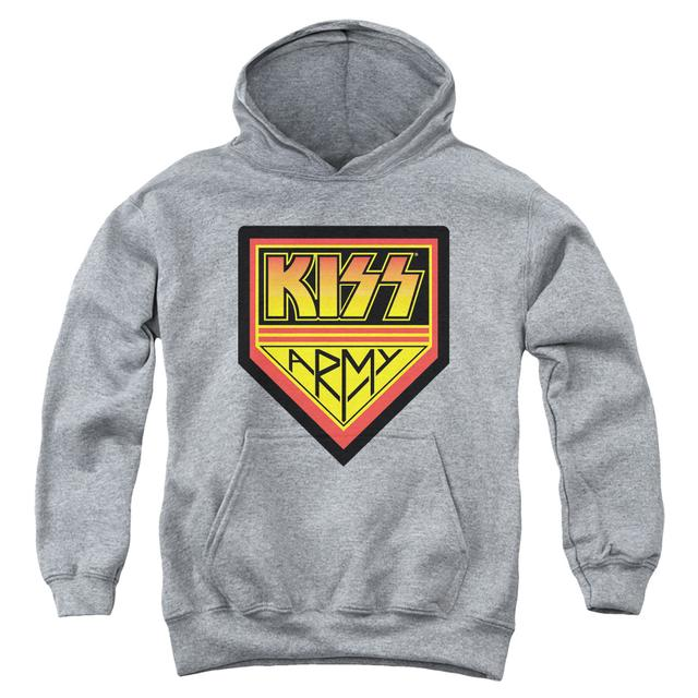 Kiss Youth Hoodie |  ARMY LOGO Pull-Over Sweatshirt