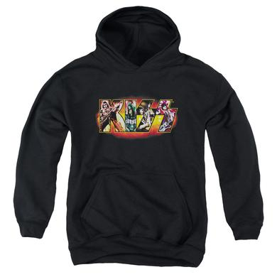 Kiss Youth Hoodie | STAGE LOGO Pull-Over Sweatshirt