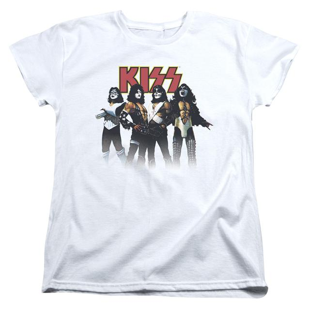 Kiss Women's Shirt | THROWBACK POSE Ladies Tee