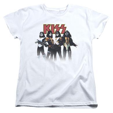 Kiss Women's Shirt | THROWBACK POSE Ladies Tee