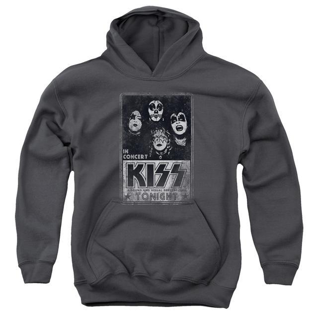 Kiss Youth Hoodie   LIVE Pull-Over Sweatshirt