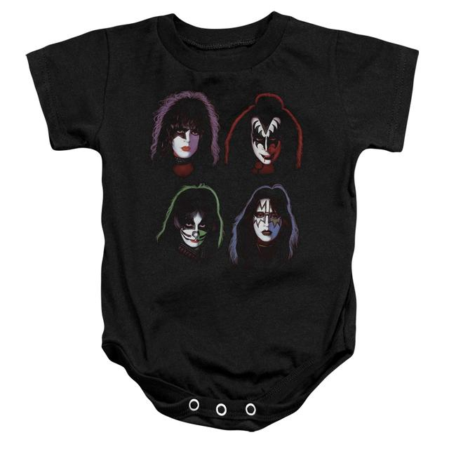 Kiss Baby Onesie   SOLO HEADS Infant Snapsuit
