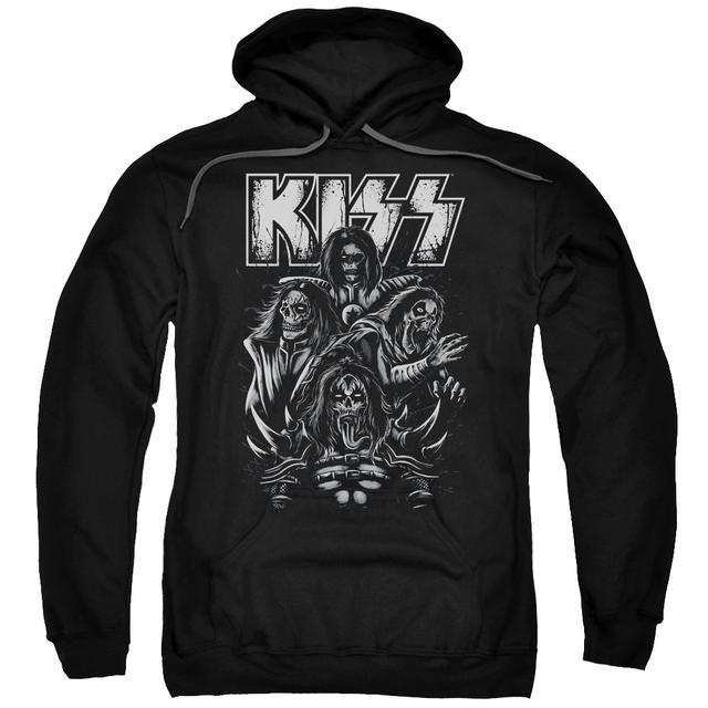 Kiss Hoodie | SKULL Pull-Over Sweatshirt