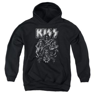 Kiss Youth Hoodie | SKULL Pull-Over Sweatshirt