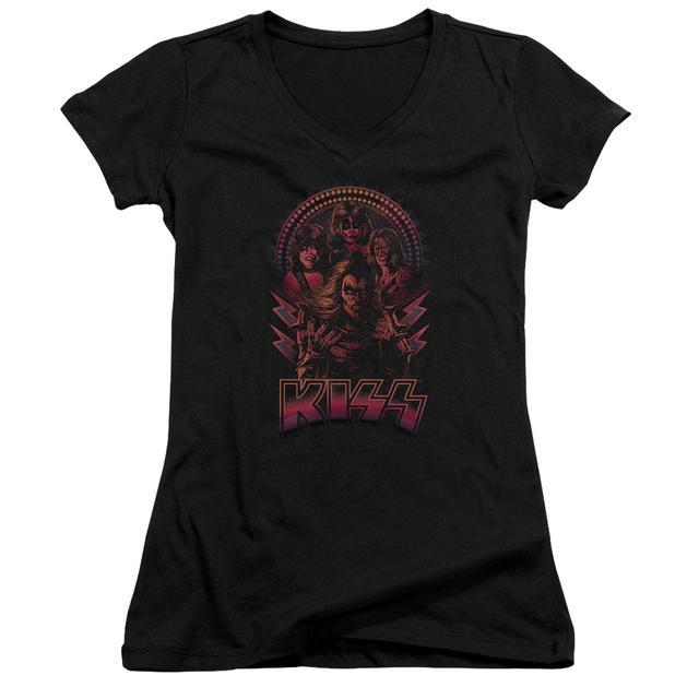Kiss Junior's V-Neck Shirt | COMIC STYLE Junior's Tee