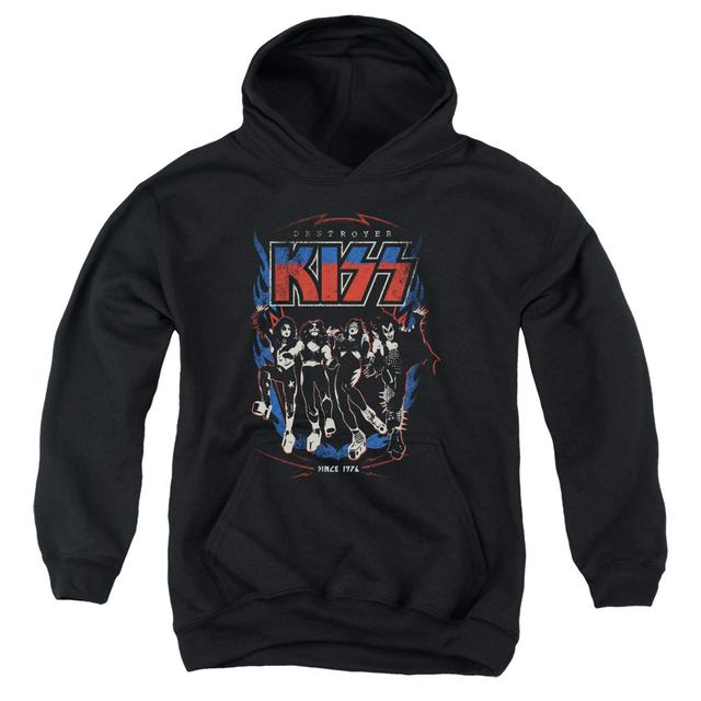 Kiss Youth Hoodie | DESTROYER Pull-Over Sweatshirt