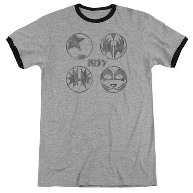 Kiss Shirt | PAINT CIRCLES Premium Ringer Tee