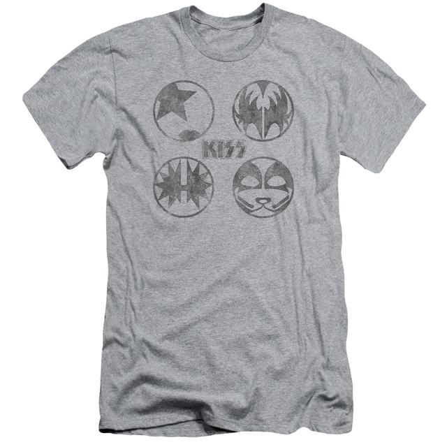 Kiss Slim-Fit Shirt | PAINT CIRCLES Slim-Fit Tee