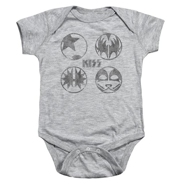 Kiss Baby Onesie | PAINT CIRCLES Infant Snapsuit