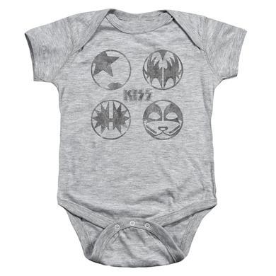 Kiss Baby Onesie | PAINT CIRCLES Infant Snapsuit
