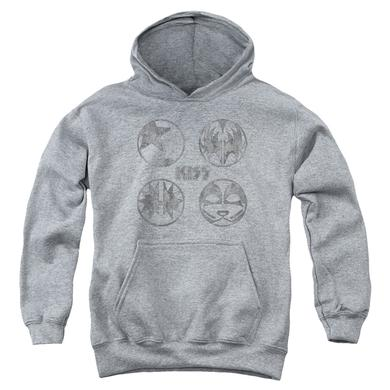 Kiss Youth Hoodie | PAINT CIRCLES Pull-Over Sweatshirt