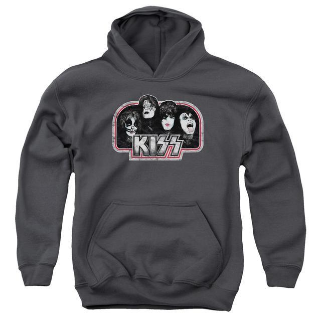 Kiss Youth Hoodie   THROWBACK Pull-Over Sweatshirt
