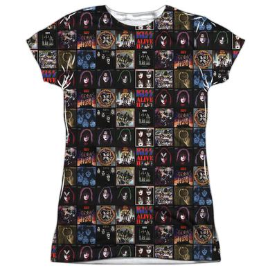 Kiss Junior's T Shirt | ALBUM COVERS (FRONT/BACK PRINT) Sublimated Tee