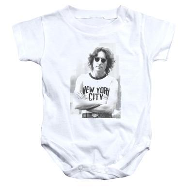 John Lennon Baby Onesie | NEW YORK Infant Snapsuit