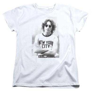 John Lennon Women's Shirt | NEW YORK Ladies Tee