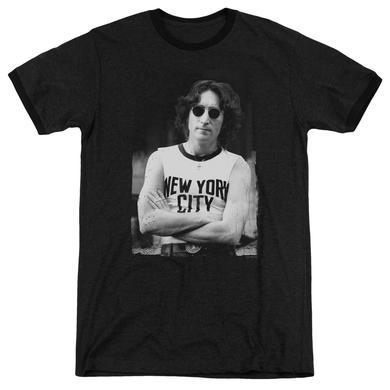 John Lennon Shirt | NEW YORK Premium Ringer Tee
