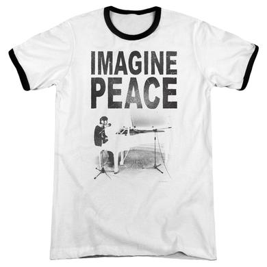 John Lennon Shirt | IMAGINE Premium Ringer Tee