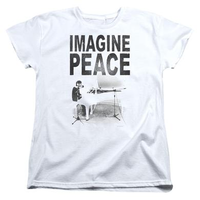 John Lennon Women's Shirt | IMAGINE Ladies Tee