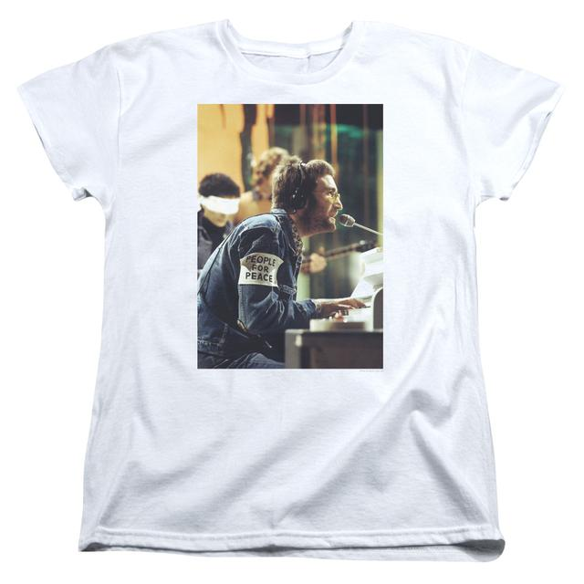 John Lennon Women's Shirt | PEACE Ladies Tee