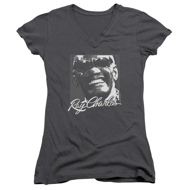 Ray Charles Junior's V-Neck Shirt | SIGNATURE GLASSES Junior's Tee
