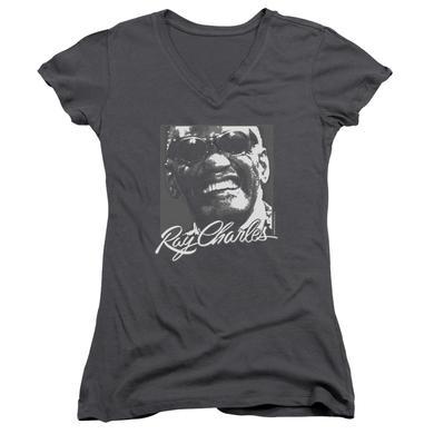 Ray Charles Junior's V-Neck Shirt   SIGNATURE GLASSES Junior's Tee