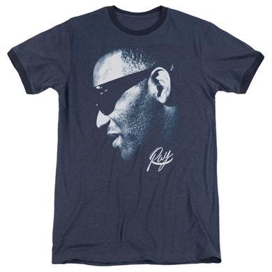 Ray Charles Shirt | BLUE RAY Premium Ringer Tee