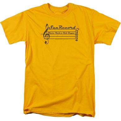 Sun Records Shirt | MUSIC STAFF T Shirt