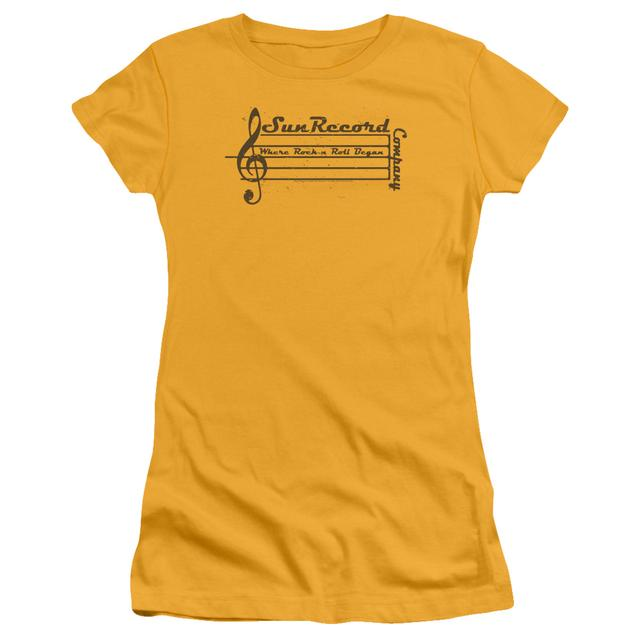 Sun Records Juniors Shirt | MUSIC STAFF Juniors T Shirt