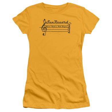 Sun Records Juniors Shirt | MUSIC STAFF Juniors T Shirt