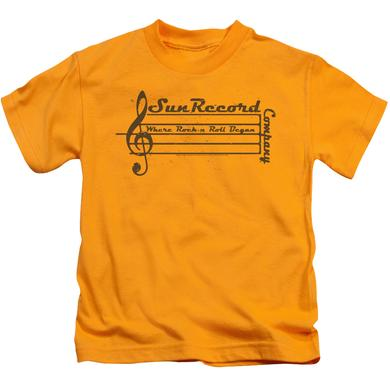 Sun Records Kids T Shirt | MUSIC STAFF Kids Tee