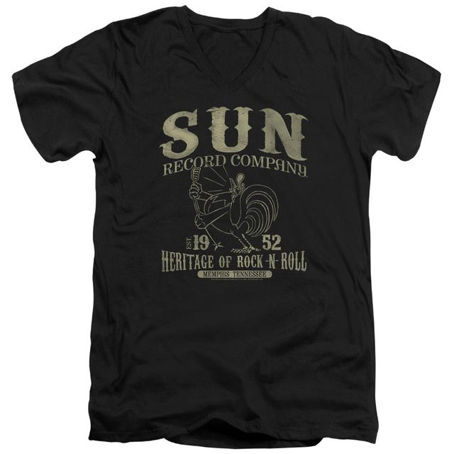 Sun Records T Shirt (Slim Fit) | ROCKABILLY BIRD Slim-fit Tee