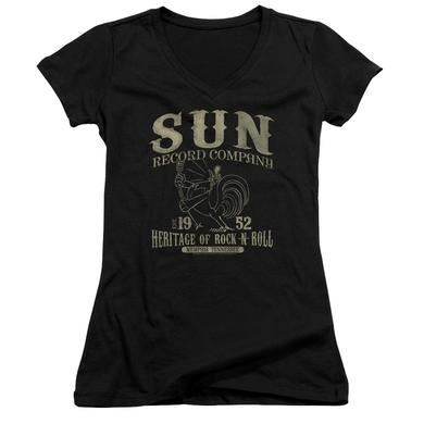 Sun Records Junior's V-Neck Shirt | ROCKABILLY BIRD Junior's Tee