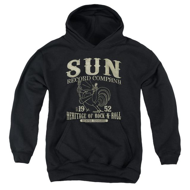 Sun Records Youth Hoodie | ROCKABILLY BIRD Pull-Over Sweatshirt