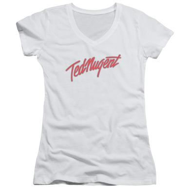 Ted Nugent Junior's V-Neck Shirt | CLEAN LOGO Junior's Tee