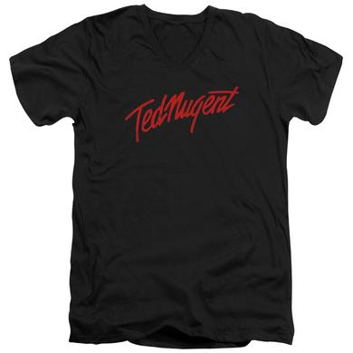 Ted Nugent T Shirt (Slim Fit) | DISTRESS LOGO Slim-fit Tee