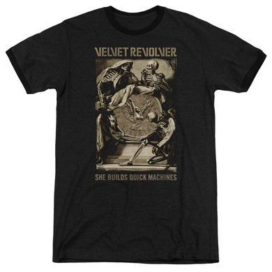 Velvet Revolver Shirt | QUICK MACHINES Premium Ringer Tee