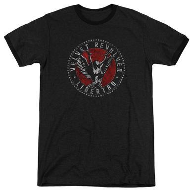 Velvet Revolver Shirt | CIRCLE LOGO Premium Ringer Tee