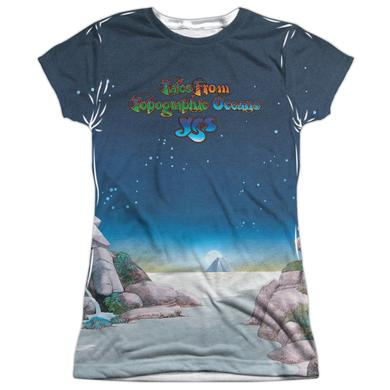 Yes Junior's T Shirt | TOPOGRAPHIC OCEANS Sublimated Tee