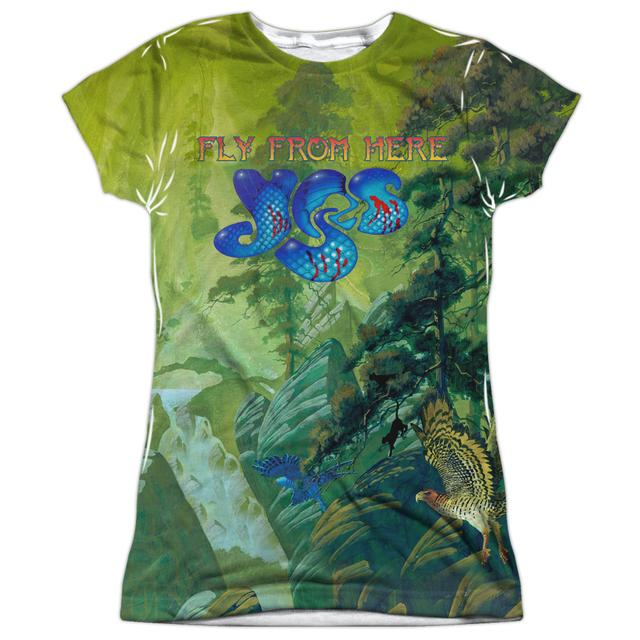 Yes Junior's T Shirt | FLY FROM HERE Sublimated Tee