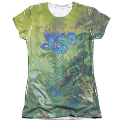 Yes Junior's Shirt | FLY FROM HERE (FRONT/BACK PRINT) Junior's Tee