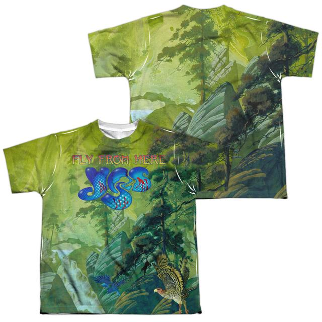 Yes Youth Shirt | FLY FROM HERE (FRONT/BACK PRINT) Sublimated Tee