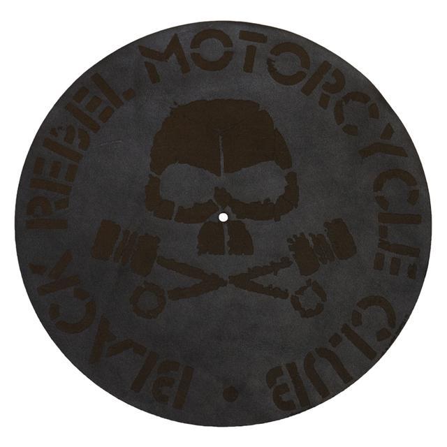Black Rebel Motorcycle Club Skull Leather Turn Table Mat