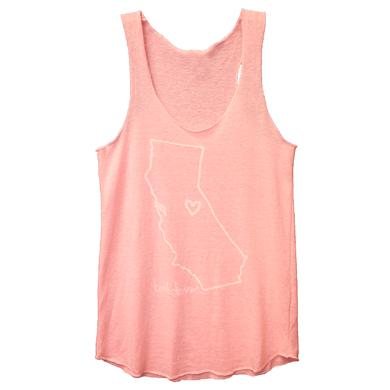 Brett Dennen Ladies Pink California Tank