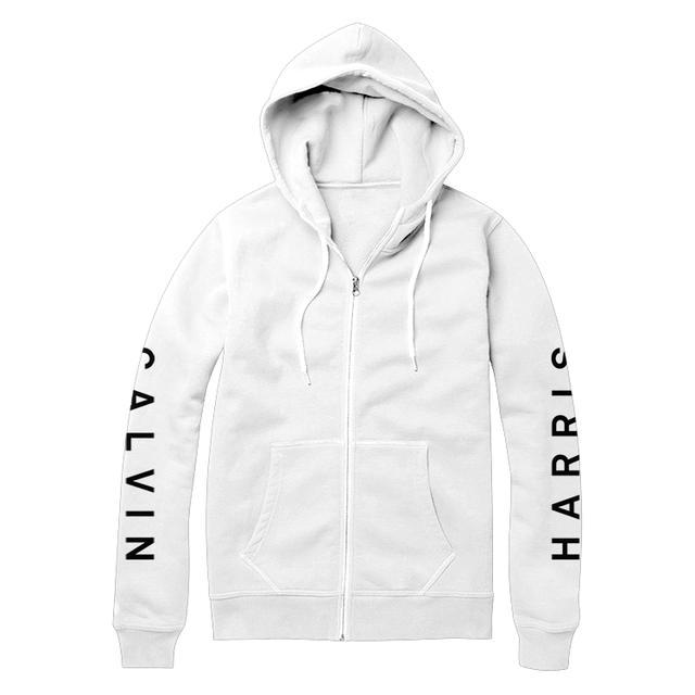 Calvin Harris Sleeve Logo Zip (White)